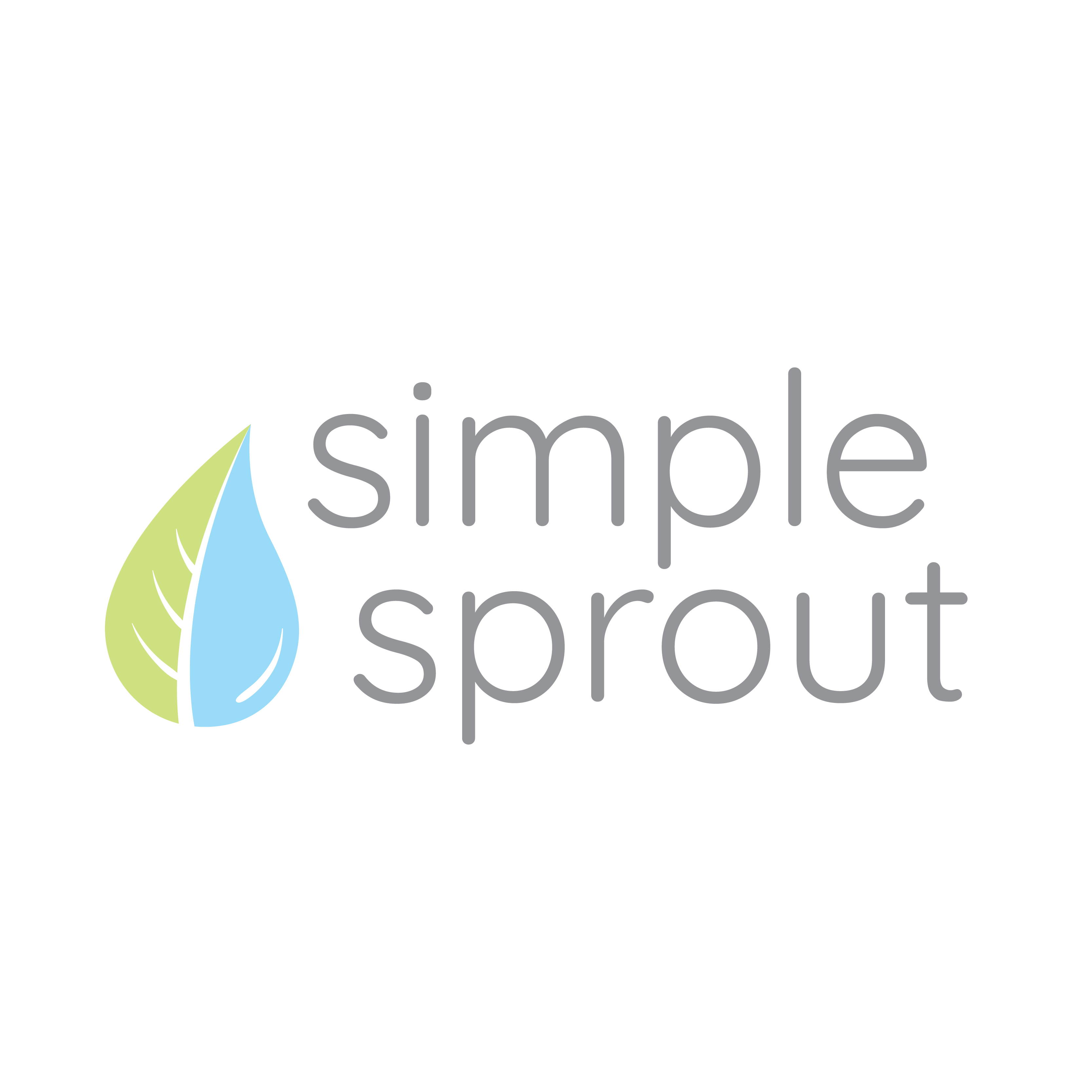 Simple Sprout Logotype Condensed