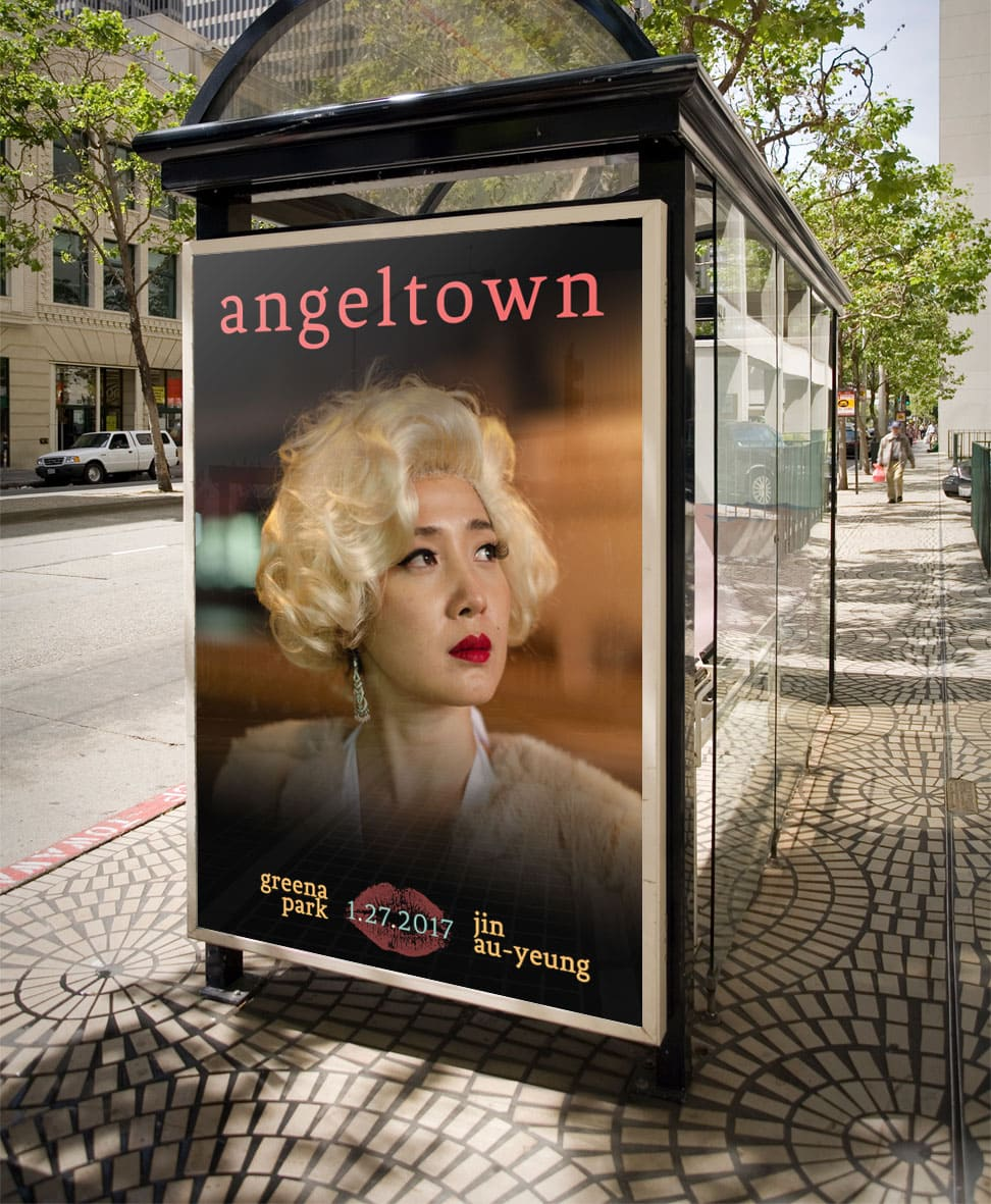 Angeltown Bus Shelter Ad