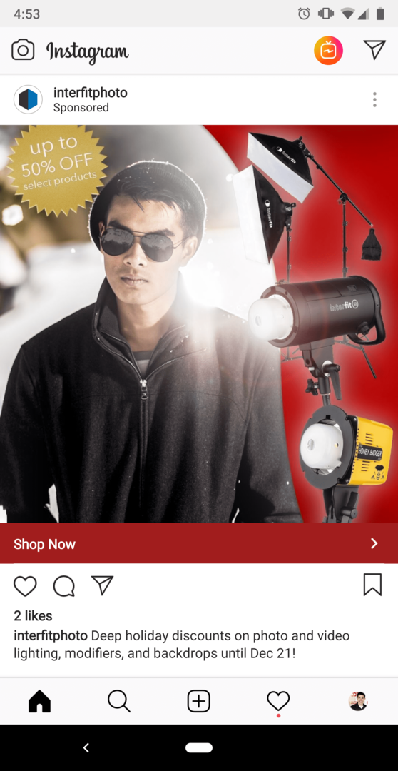 Holiday Instagram Ad
