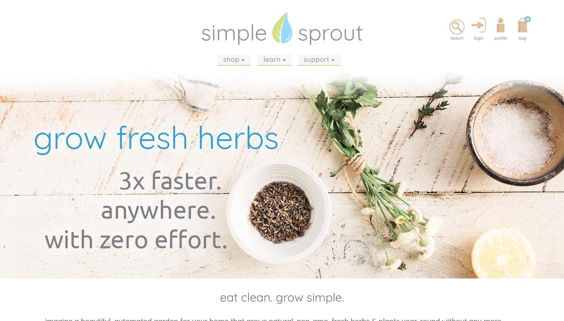 Simple Sprout Website